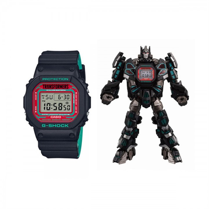Casio G-Shock × Transformers Master Nemesis Prime Resonant Model DW-5600TF19-SET