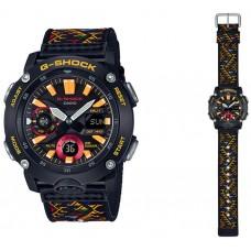 Casio G-Shock Traditional Pattern Series Bhutan Textile GA-2000BT-1AJR