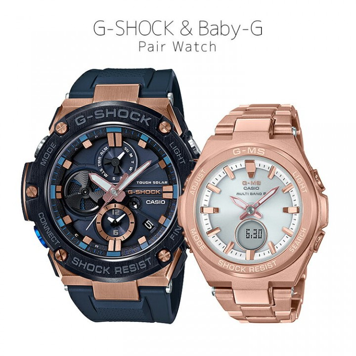 CASIO G-SHOCK/BABY-G G-STEEL/G-MS PAIR GST-B100G-2AJF/MSG-W200DG-4AJF
