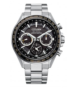 Citizen Attesa Eco-Drive GPS Satellite Radio Clock F950 Double Direct Flight ACT Line CC4015-51E