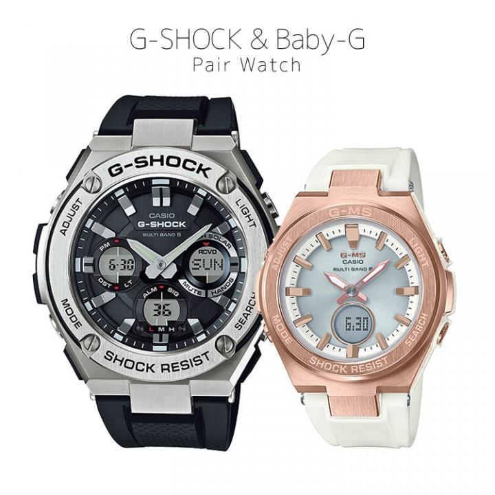 CASIO G-SHOCK/BABY-G G-STEEL/G-MS - GST-W110-1AJF/MSG-W200G-7AJF