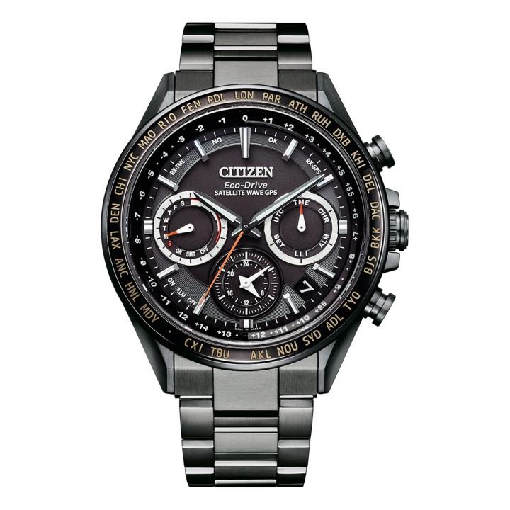 Citizen Attesa Eco-Drive GPS Satellite Radio Clock F950 Double Direct Flight ACT Line CC4014-62E