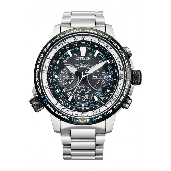 Citizen Promaster Eco-Drive Satellite Wave GPS Blue Impulse Limited Model CC7015-63E
