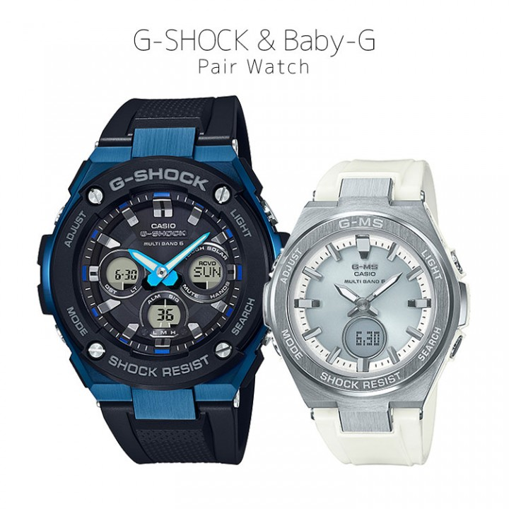 CASIO G-SHOCK/BABY-G G-STEEL/G-MS - GST-W300G-1A2JF/MSG-W200-7AJF