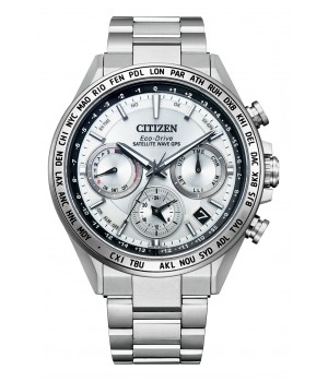 Citizen Attesa Eco-Drive GPS Satellite Radio Clock F950 Double Direct Flight ACT Line CC4010-80A