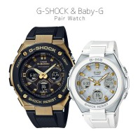 Casio G-SHOCK/BABY-G G-STEEL/G-MS PAIR GST-W300G-1A9JF/MSG-W100-7A2JF