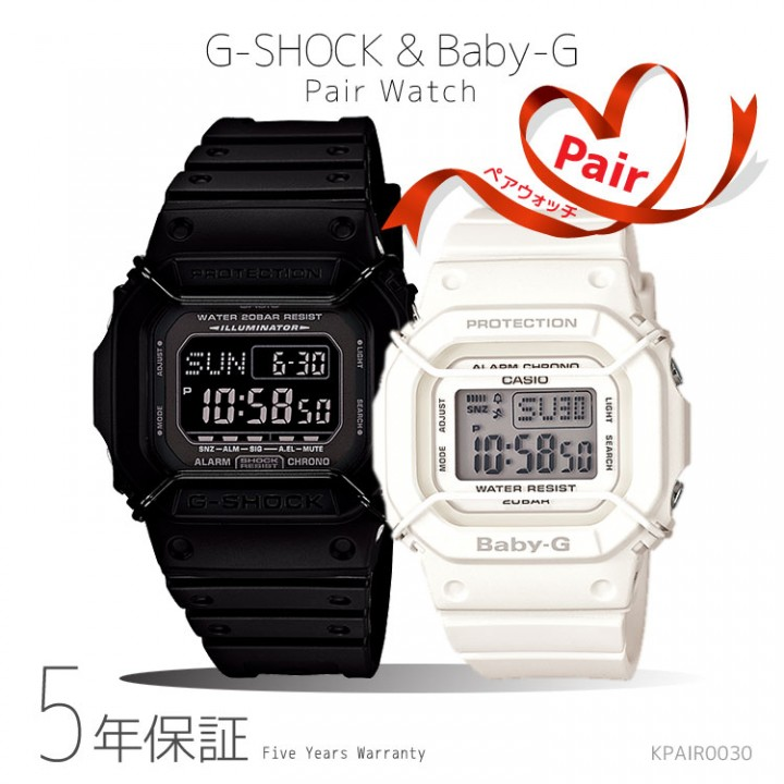 CASIO G-SHOCK BABY-G PAIR DW-D5600P-1JF/BGD-501-7JF