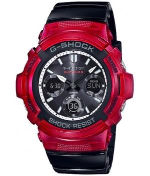 Casio G-Shock Red & Black AWG-M100SRB-4AJF
