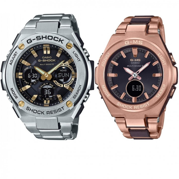 CASIO G-SHOCK/BABY-G G-STEEL/G-MS Pair GST-W110D-1A9JF/MSG-W200CG-5AJF